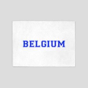 Belgium-Var blue 400 5'x7'Area Rug