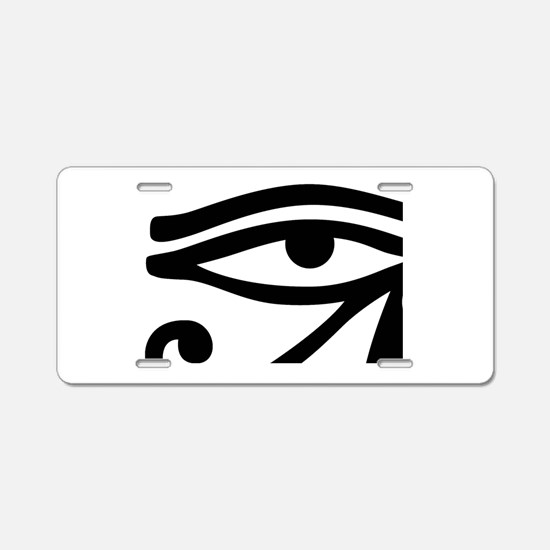 Eye of Horus ancient Egypti Aluminum License Plate