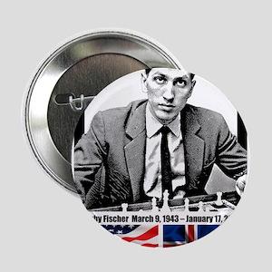 """Robert Bobby Fischer American Chess g 2.25"""" Button"""