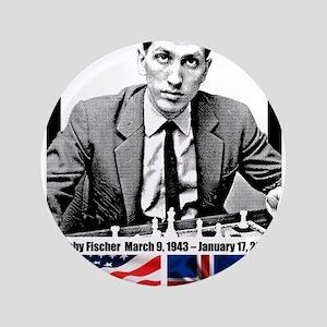 """Robert Bobby Fischer American Chess gr 3.5"""" Button"""