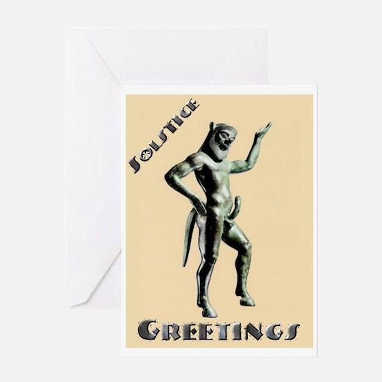 """""""Solstice Pan"""" Greeting Card"""