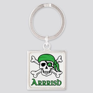 Irish Pirate Square Keychain