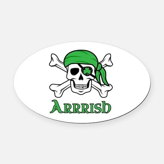 Irish Pirate Oval Car Magnet