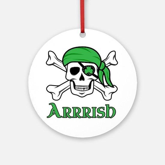 Irish Pirate Round Ornament