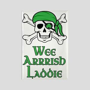 Irish Pirate Rectangle Magnet