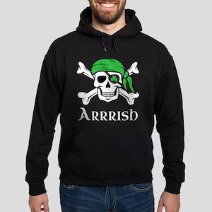 Irish Pirate - Arrrish Hoodie (dark)