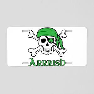 Irish Pirate - Arrrish Aluminum License Plate