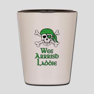 Irish Pirate - Wee Arrrish Laddie Shot Glass