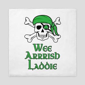 Irish Pirate - Wee Arrrish Laddie Queen Duvet