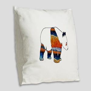 PANDA Burlap Throw Pillow