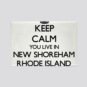 Keep calm you live in New Shoreham Rhode I Magnets