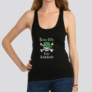 Irish Pirate - Kiss Me I'm Arrr Racerback Tank Top