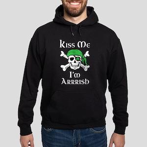 Irish Pirate - Kiss Me I'm Arrrish Hoodie (dark)
