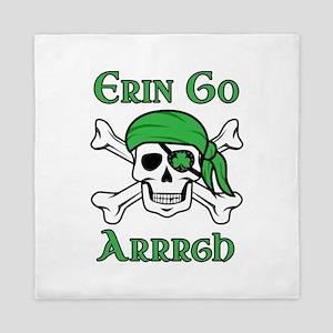 Irish Pirate - Erin Go Arrrgh Queen Duvet