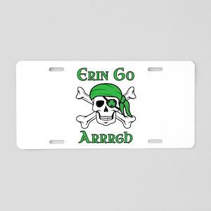 Irish Pirate - Erin Go Arrr Aluminum License Plate