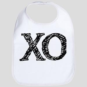 XO - black and white Bib