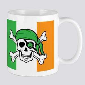 Irish Jolly Roger - Pirate Flag Mugs