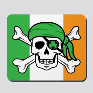 Irish Jolly Roger - Pirate Flag Mousepad