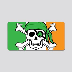 Irish Jolly Roger - Pirate Aluminum License Plate