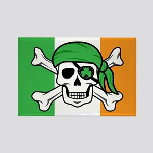 Irish Jolly Roger - Pirate Flag Magnets