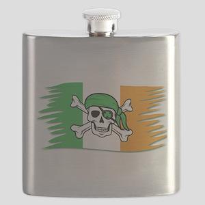 Irish Pirate Flag - Jolly Roger Flask