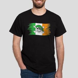 Irish Pirate Flag - Jolly Roger T-Shirt