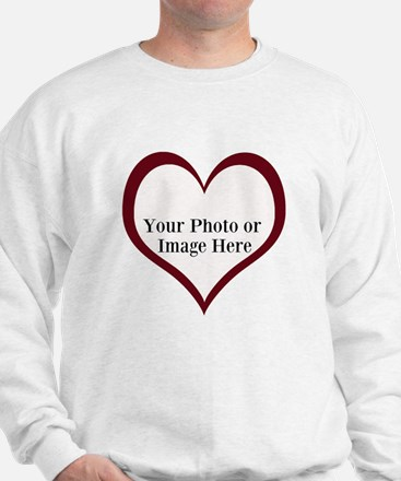 Your Photo Heart by LH Sweatshirt