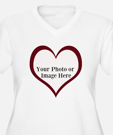 Your Photo Heart by LH Plus Size T-Shirt