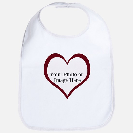 Your Photo Heart by LH Bib