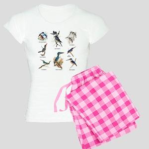 Birder Kingfisher Illustrations Pajamas