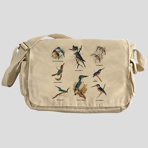 Birder Kingfisher Illustrations Messenger Bag