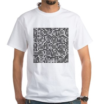 Graphical Pi Visualization White T-Shirt