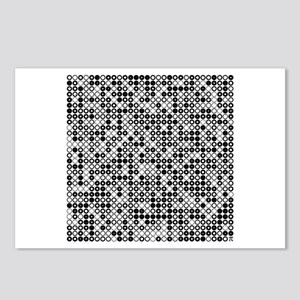 Graphical Pi Visualization Postcards (Package of 8