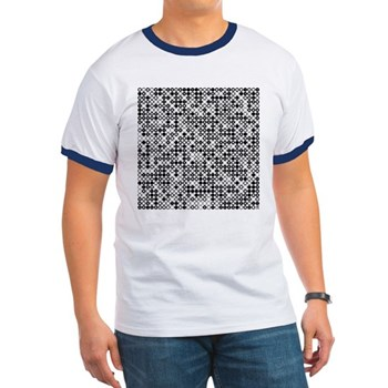 Graphical Pi Visualization Ringer T-Shirt
