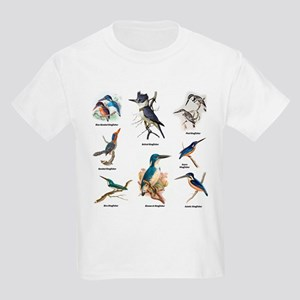 Birder Kingfisher Illustrations T-Shirt