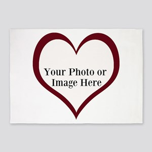 Your Photo Heart by LH 5'x7'Area Rug