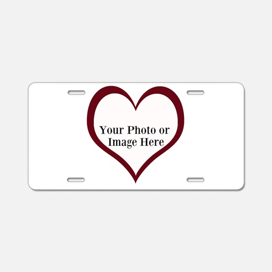 Your Photo Heart by LH Aluminum License Plate