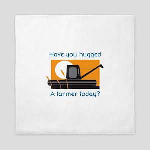 HAVE YOU HUGGED A FARMER Queen Duvet