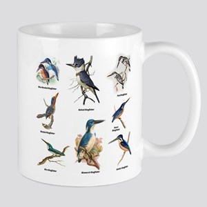 Birder Kingfisher Illustrations Mugs