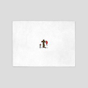 Christmas Irony 5'x7'Area Rug