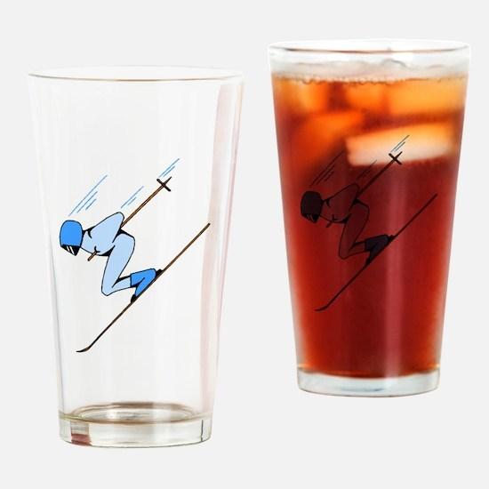 Ski Racer Drinking Glass