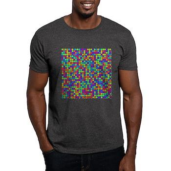 Rainbow Pi Visualization Dark T-Shirt