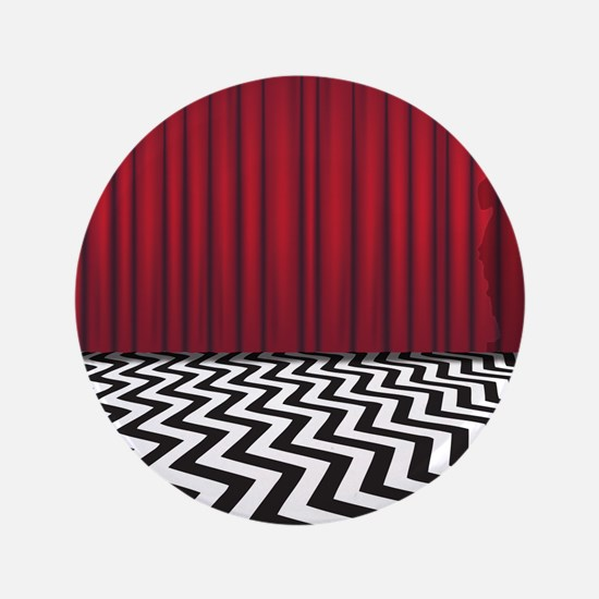 """Black Lodge Waiting Room 3.5"""" Button"""