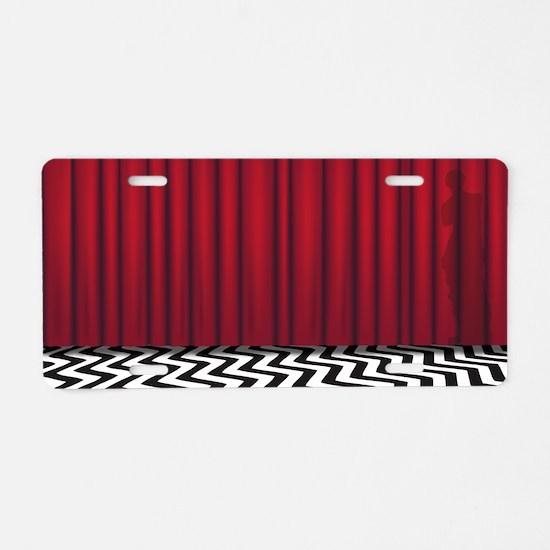 Black Lodge Twin Peaks Aluminum License Plate