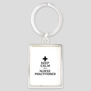 Keep Calm Nurse Practitioner Keychains