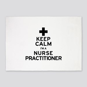 Keep Calm Nurse Practitioner 5'x7'Area Rug