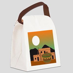 PUEBLO SUNRISE Canvas Lunch Bag