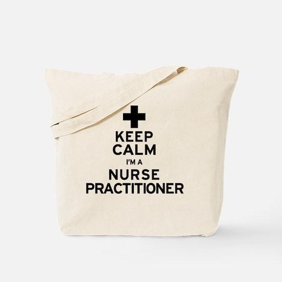 Keep Calm Nurse Practitioner Tote Bag