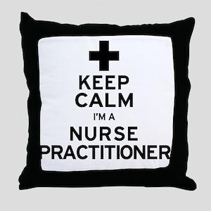 Keep Calm Nurse Practitioner Throw Pillow