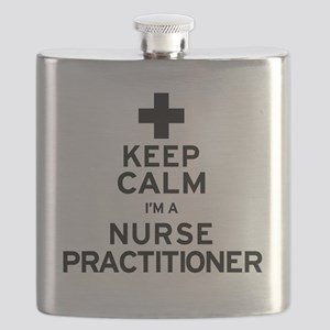 Keep Calm Nurse Practitioner Flask